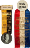 Political:Pinback Buttons (1896-present), Herbert Hoover: Two 1928 Badges.... (Total: 2 Items)