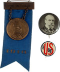 Political:Pinback Buttons (1896-present), Charles Evans Hughes: Trio of 1916 Buttons. ... (Total: 3 Items)