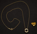 Estate Jewelry:Pendants and Lockets, Tiffany & Co. 18k Gold Pendant & 24k Pendant. ... (Total: 2 Items)