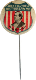 Political:Pinback Buttons (1896-present), William Jennings Bryan: Rare Picture Pin....