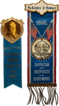 Political:Ribbons & Badges, William McKinley and William Howard Taft: Ribbon Badges.... (Total: 2 Items)