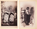 American Indian Art:Photographs, APACHE INFANTS and NAVAJO WOMAN AND BABY. c. 1890 . ... (Total: 2Items)