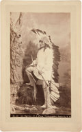 American Indian Art:Photographs, UTE WARRIOR . c. 1880. ...
