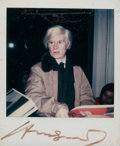 Photographs:20th Century, ANDY WARHOL (American, 1928-1987). Untitled (Andy Warhol),c. 1984-86. Polaroid. 3-1/8 x 3-1/8 inches (7.9 x 7.9 cm). Si...