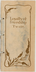 Books:Literature Pre-1900, Mark Twain, Henry David Thoreau, et al. The Loyalty ofFriendship by Mark Twain and Thoughts From Channing, Emerson,Tho...