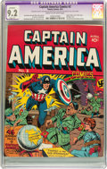 Golden Age (1938-1955):Superhero, Captain America Comics #2 (Timely, 1941) CGC Apparent NM- 9.2 Slight (P) Cream to off-white pages....