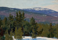 Fine Art - Painting, American:Modern  (1900 1949)  , JOHN SHARMAN (American, 1879-1971). Winter Landscape. Oil onboard. 14 x 20-3/4 inches (35.6 x 52.7 cm). Signed lower le...