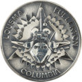 Transportation:Space Exploration, Space Shuttle Columbia (STS-3) Unflown Robbins Silver Medallion Originally from the Personal Collection of Astrona...