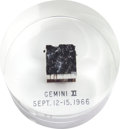 Transportation:Space Exploration, Gemini 11 Flown Heat Shield Plug in Lucite Display....