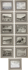 Western Expansion:Goldrush, [Nevada Mining]. Lot of Eleven Photographs of Searchlight,Nevada....