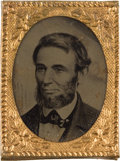 "Political:Ferrotypes / Photo Badges (pre-1896), Abraham Lincoln: ""Speed Portrait"" Ferrotype...."