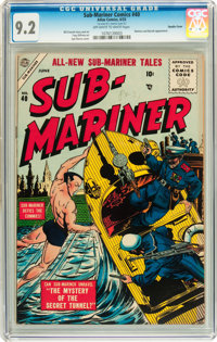 Sub-Mariner Comics #40 Double Cover (Atlas, 1955) CGC NM- 9.2 Off-white to white pages