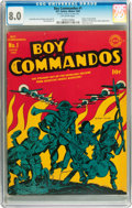 Golden Age (1938-1955):War, Boy Commandos #1 (DC, 1942) CGC VF 8.0 Off-white pages....