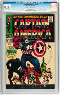 Silver Age (1956-1969):Superhero, Captain America #100 (Marvel, 1968) CGC NM/MT 9.8 Off-white towhite pages....