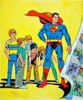 Original Comic Art:Covers, Wayne Boring Superboy #1 Cover Re-Creation Painting OriginalArt (1982)....
