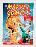Original Comic Art:Covers, Murphy Anderson Overstreet Comic Book Price Guide #33 Cover Featuring Marvel Comics #1 Human Torch Ori... (Total: 2 Items)