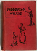 Books:Literature Pre-1900, Mark Twain. Pudd'nhead Wilson. A Tale. London: Chatto &Windus, 1894. First English edition (precedes U.S. editi...