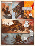 "Original Comic Art:Panel Pages, Simon Bisley 2000 AD Program #689 ""Slaine: The Horned GodBook III"" Page 2 Original Art (Fleetway, 1990)...."
