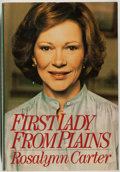 Books:Biography & Memoir, Rosalynn Carter. INSCRIBED BY THE AUTHOR AND SIGNED BY JIMMYCARTER. First Lady From Plains. Boston: Houghton Mi...