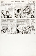 Original Comic Art:Panel Pages, Mike Sekowsky and Bernard Sachs Justice League of America #1Last Page 26 Original Art (DC, 1960)....