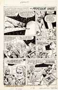 "Original Comic Art:Complete Story, Mike Esposito Hostess Twinkies Ad/Story ""Captain Marvel vsProfessor Sneer"" Original Art (1979)...."