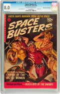 Golden Age (1938-1955):Science Fiction, Space Busters #1 Mile High pedigree (Ziff-Davis, 1952) CGC VF 8.0Off-white to white pages....