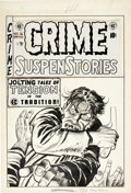 Original Comic Art:Covers, Johnny Craig Crime SuspenStories #16 Cover Original Art (EC, 1953).... (Total: 2 Items)