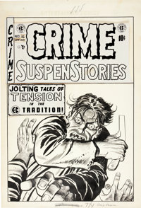 Johnny Craig Crime SuspenStories #16 Cover Original Art (EC, 1953).... (Total: 2 Items)