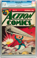 Golden Age (1938-1955):Superhero, Action Comics #19 Billy Wright pedigree (DC, 1939) CGC VF- 7.5 Off-white to white pages....