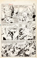 Original Comic Art:Panel Pages, Jack Kirby and Vince Colletta Journey Into Mystery Annual #1Thor vs. Storm Giants Page 3 Original Art (Marvel, 19...