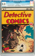 Golden Age (1938-1955):Crime, Detective Comics #17 Billy Wright pedigree (DC, 1938) CGC VF 8.0 White pages....