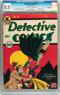 Golden Age (1938-1955):Superhero, Detective Comics #41 Billy Wright pedigree (DC, 1940) CGC VF+ 8.5 Off-white to white pages....
