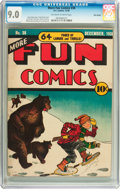 Golden Age (1938-1955):Miscellaneous, More Fun Comics #38 Billy Wright pedigree (DC, 1938) CGC VF/NM 9.0 Off-white to white pages....