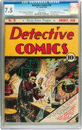 Golden Age (1938-1955):Superhero, Detective Comics #18 Billy Wright pedigree (DC, 1938) CGC VF- 7.5 White pages....