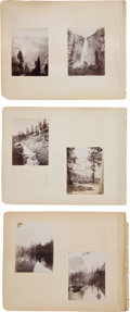 Photography:Official Photos, Very Nice 1882-Dated Album with Twenty-Five Photos, Mostly GreatYosemite Views....