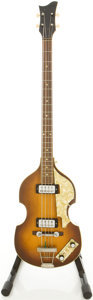 "Musical Instruments:Bass Guitars, Circa late 1960's Hofner 500/1 ""Beatle"" Sunburst Electric Bass Guitar...."