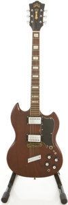 Musical Instruments:Electric Guitars, 1972 Guild S-100 Brown Solid Body Electric Guitar, #67088....