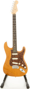 Musical Instruments:Electric Guitars, 2004 Fender Stratocaster USA Amber Solid Body Electric Guitar,#DZ4175345....