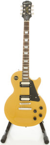 Musical Instruments:Electric Guitars, Epiphone Gold Solid Body Electric Guitar, #11061512315....