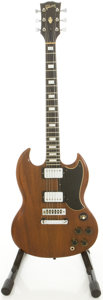 Musical Instruments:Electric Guitars, 1974 Gibson SG Walnut Solid Body Electric Guitar, #101583....