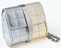 Luxury Accessories:Bags, Heritage Vintage: Chanel Gold and Silver Metallic LambskinLeather Clutch with CC Closure and Chain. ...