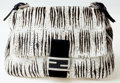 Luxury Accessories:Bags, Heritage Vintage: Fendi Black and White Ponyhair and JewelZebra Mamma Baguette. ...