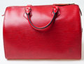 Luxury Accessories:Bags, Heritage Vintage: Louis Vuitton Red Epi Speedy 30 Bag. ...