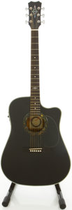 Musical Instruments:Acoustic Guitars, Alvarez 5088BK Black Acoustic Electric Guitar, #51418....
