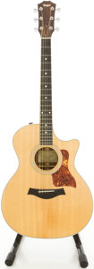 Musical Instruments:Acoustic Guitars, 2007 Taylor 414 Natural Acoustic Electric Guitar, #20070828044....