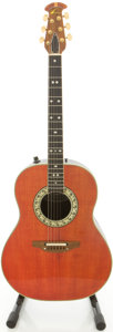 Musical Instruments:Acoustic Guitars, Ovation 1617-2 Trans Red Acoustic Electric Guitar, #095761....