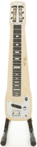Musical Instruments:Lap Steel Guitars, Circa 1960 Fender Champ White Lap Steel Guitar, #6499....