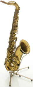 Musical Instruments:Horns & Wind Instruments, Circa 1953 Hohner President Brass Tenor Saxophone, #2345....