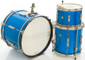 Musical Instruments:Drums & Percussion, Circa Mid 1960's Ludwig Keystone Blue Sparkle Drum Set, #314411....