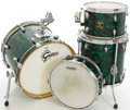 Musical Instruments:Drums & Percussion, Gretsch Catalina Club Green Oyster Pearl Drum Set....